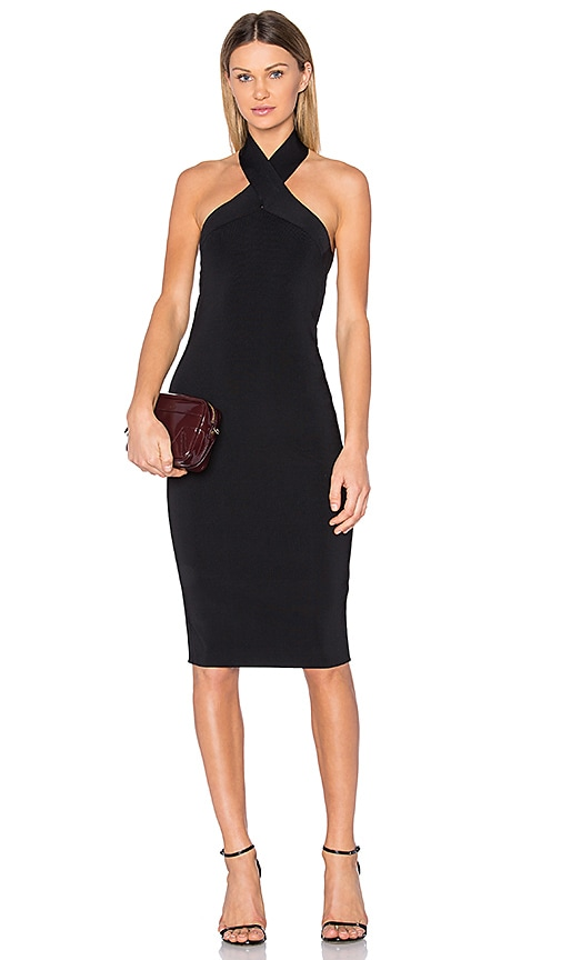 T by Alexander Wang Knit Halter Dress in Black