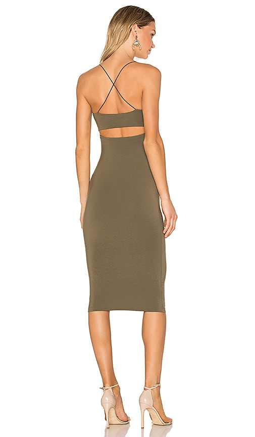 T by Alexander Wang Strappy Tank Dress in Army