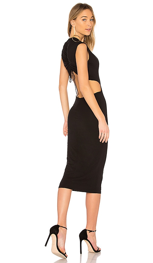 T by Alexander Wang Cut-Out Dress in Black