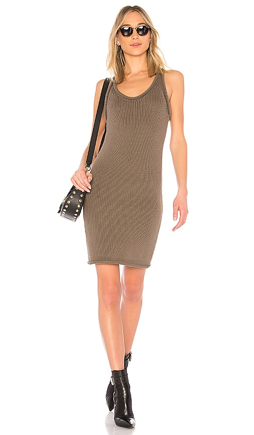 T by Alexander Wang Knit Dress in Olive