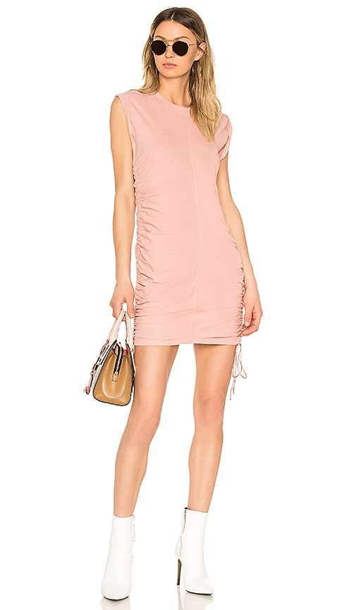T by Alexander Wang High Twist Mini Dress in Pink