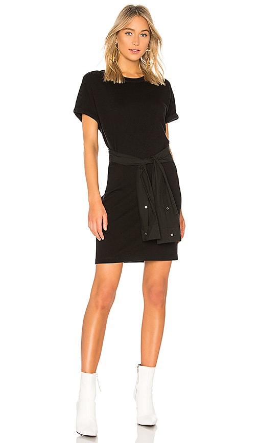 T by Alexander Wang Shirt Tie Mini Dress in Black
