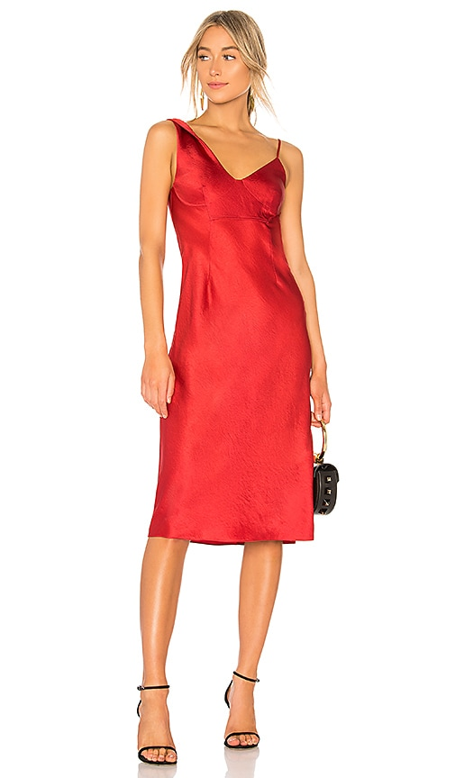 T by Alexander Wang Wash & Go Slip Dress in Red