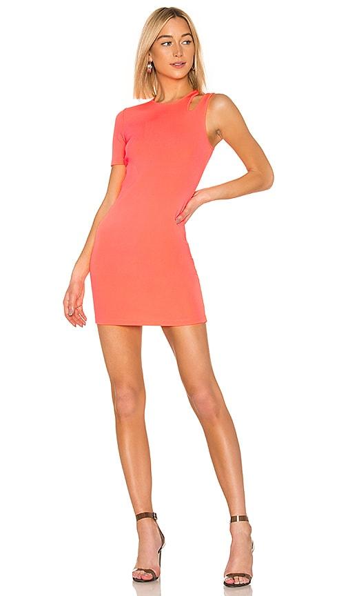 Sleek Rib Asymmetric Dress