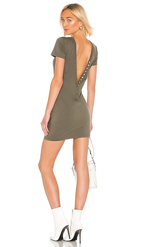 Compact Jersey Snaps Dress