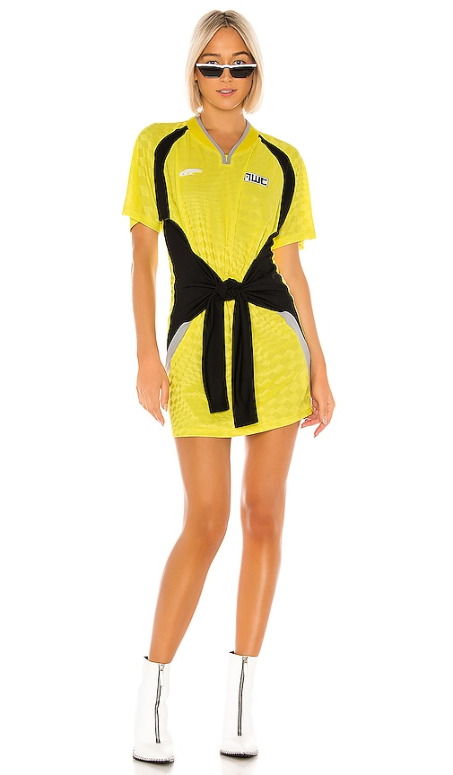 Tricot Front Tie Dress
