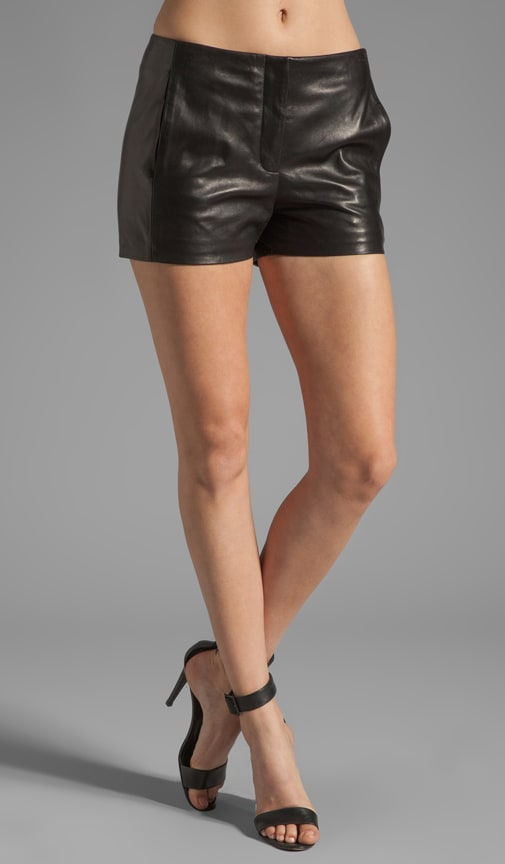 Leather Waistbandless Short