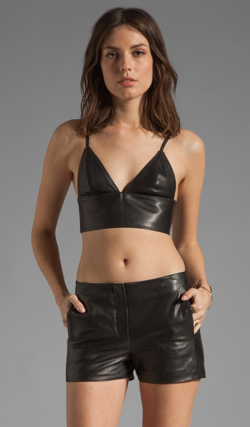 Leather Triangle Bralette