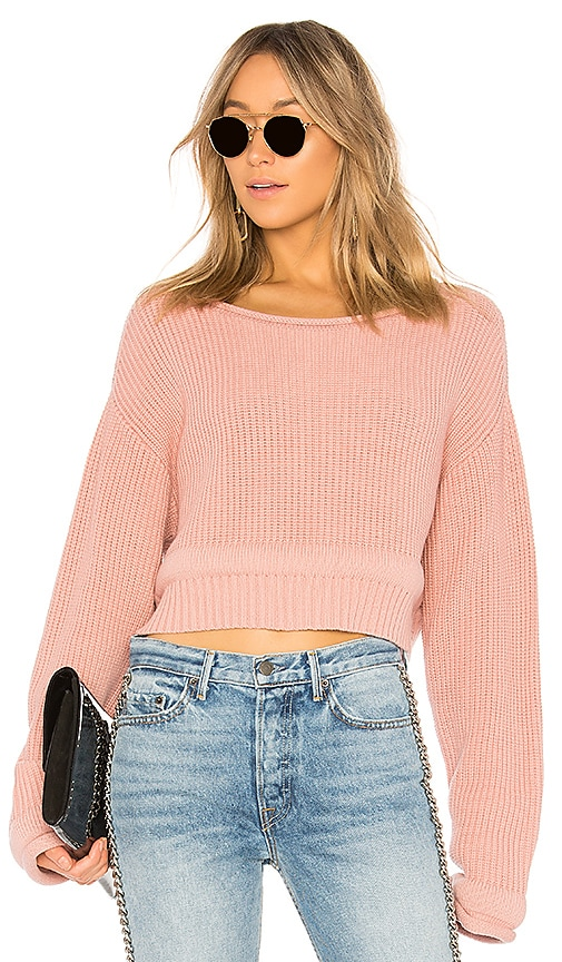 T by Alexander Wang Chunky Trim Pullover in Rose