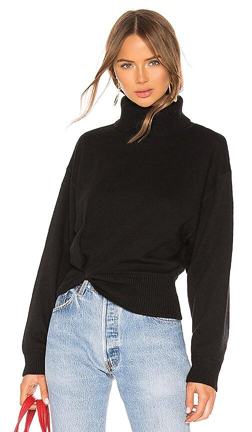 Twist Detail Turtleneck Sweater
