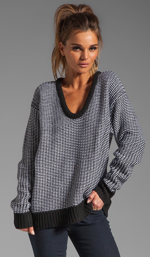 Checkered Float V Neck Dolman