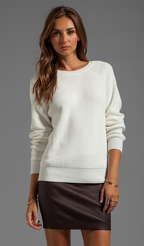 Techy Slick Cotton Rib Sweater