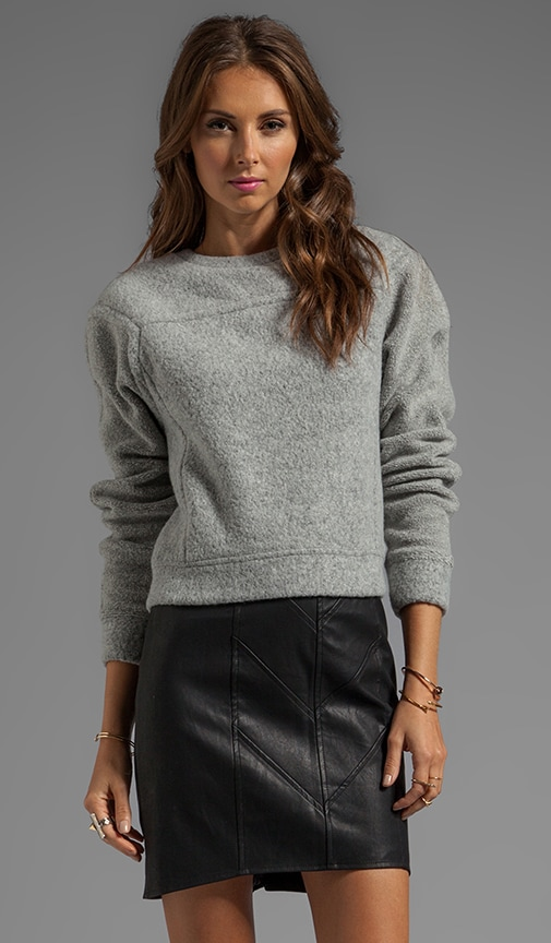 Brushed Wool Sweatshirt Top
