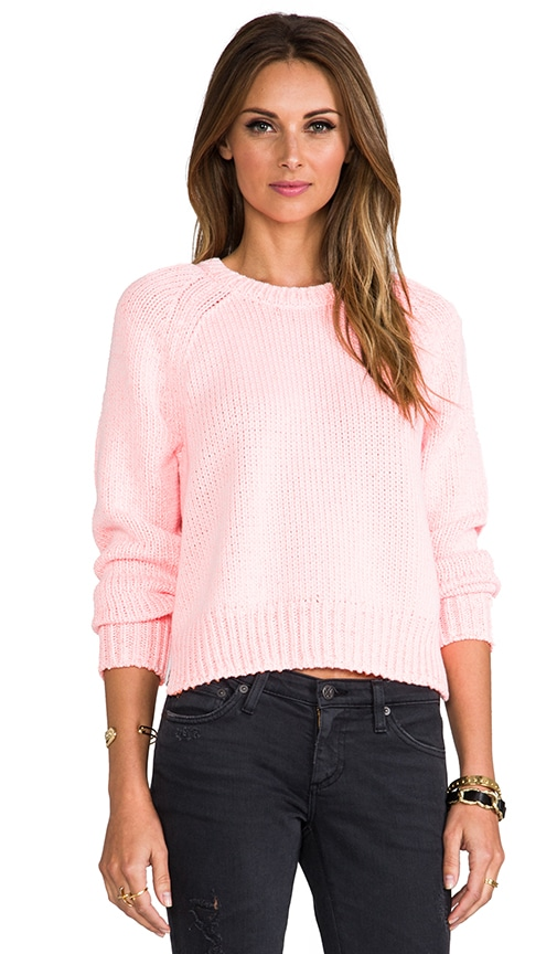 Chainette Crewneck Cropped Pullover