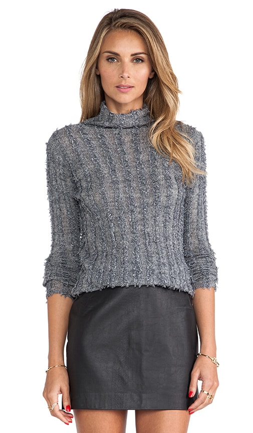 Merino Frayed Turtleneck