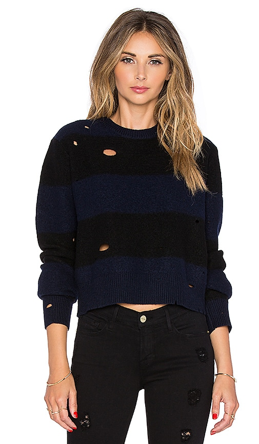Dropped Needle Cropped Sweater