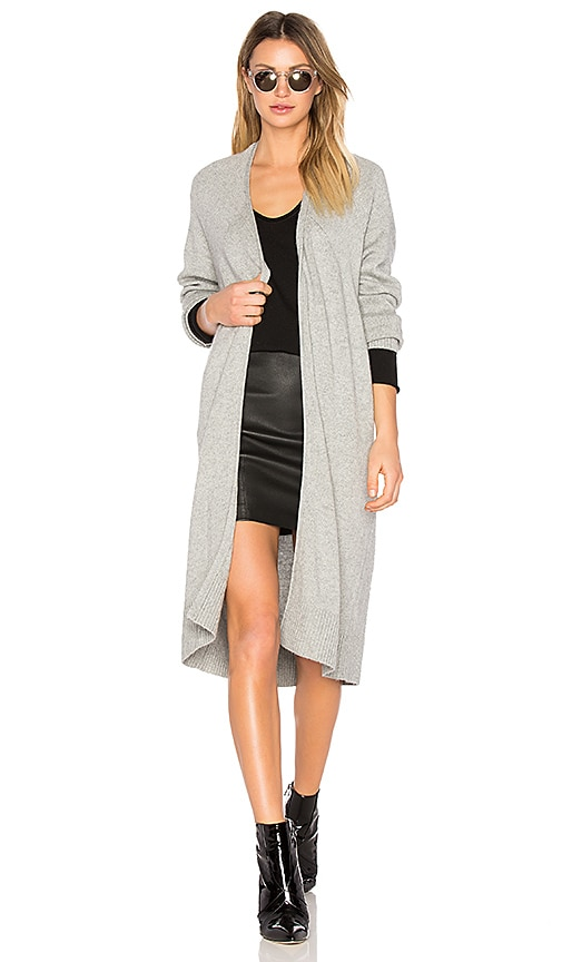 T by Alexander Wang Cashwool Bathrobe Cardigan in Gray