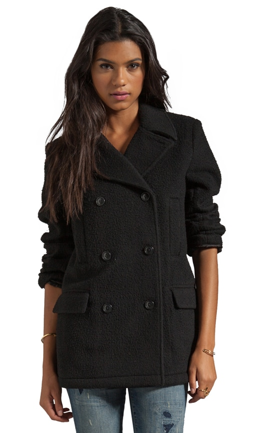 Pilly Wool Felt Peacoat