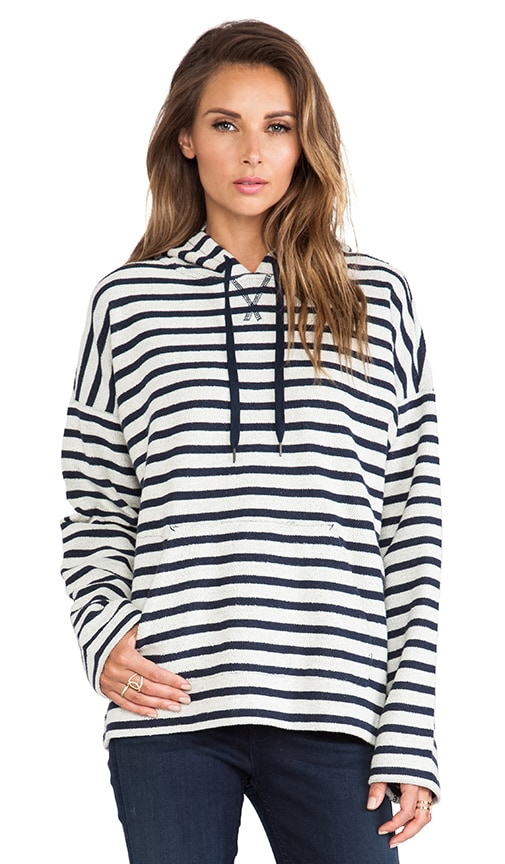 Stripe French Terry Hooded Sweatshirt