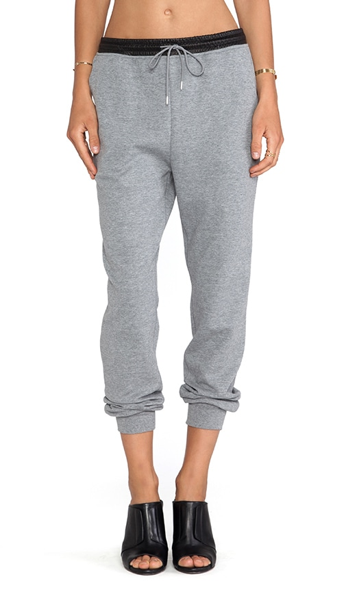 Leather Waistband Sweatpants