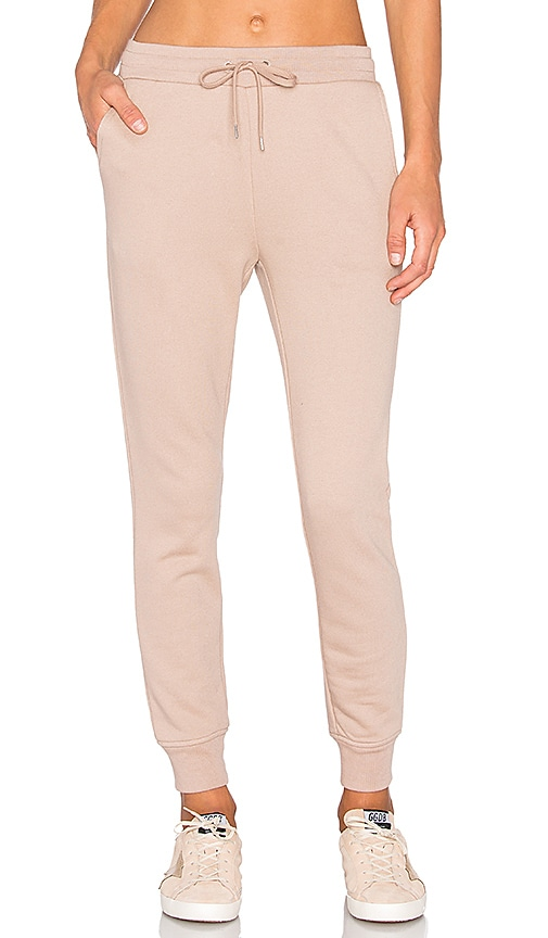 T by Alexander Wang French Terry Sweatpant in Beige