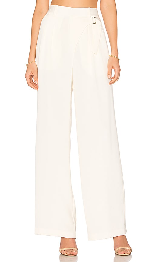 T by Alexander Wang Wide Leg Trouser in Ivory