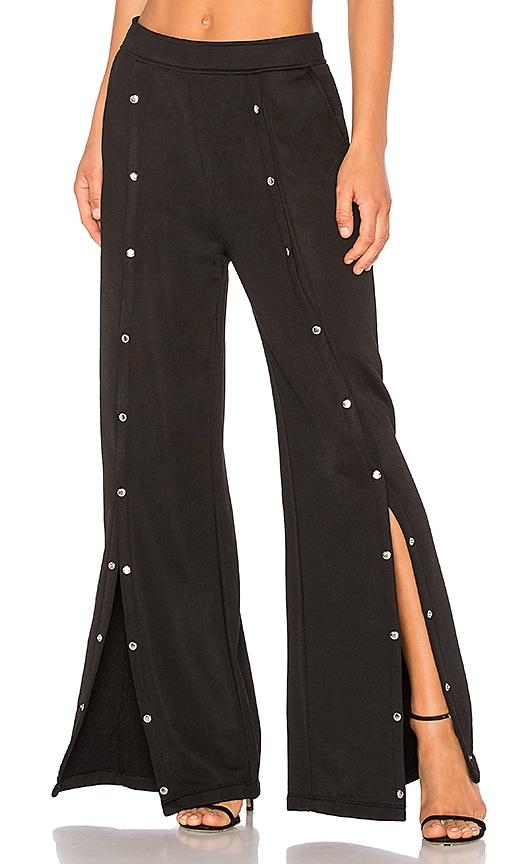 T by Alexander Wang Sleek Snap Wide Leg Pant in Black