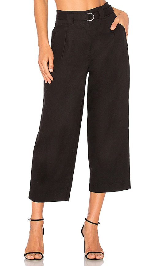 T by Alexander Wang Belted Crop Waist Pant in Black