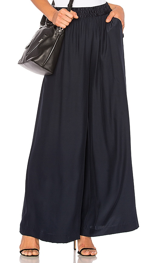 T by Alexander Wang Wide Leg Pant in Blue