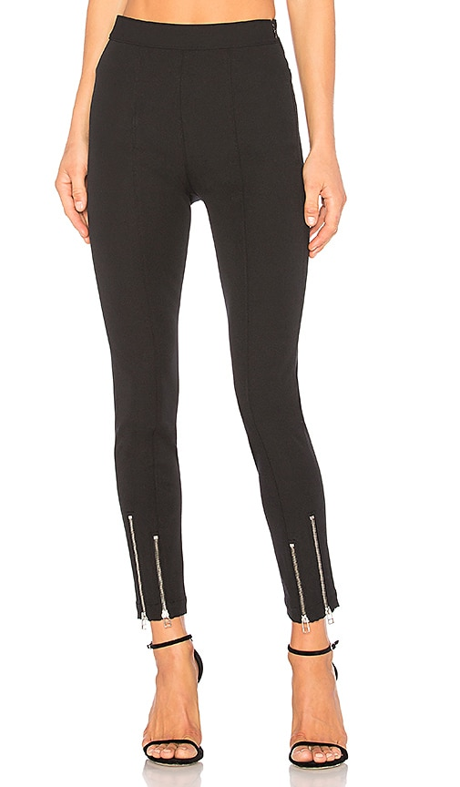 T by Alexander Wang Ankle Zip Pant in Black
