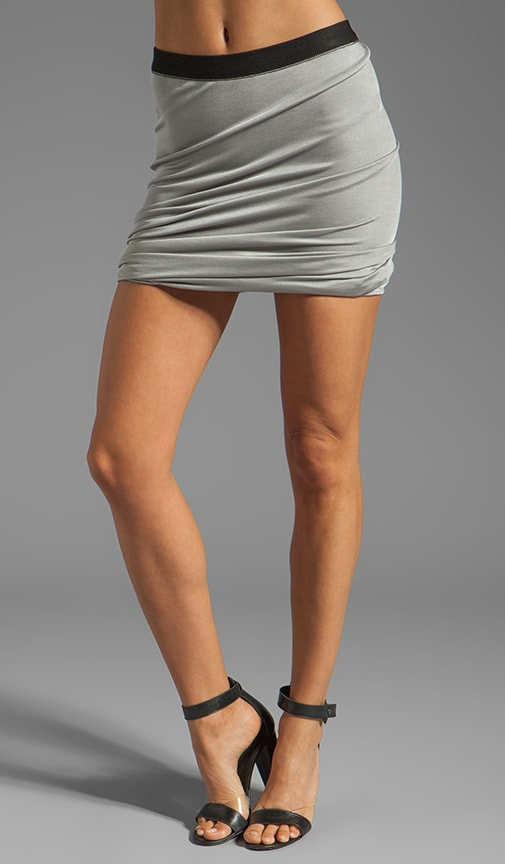 Pique Shiny Knit Twist Skirt