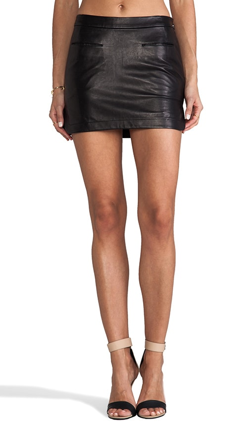 Lightweight Leather Mini Skirt