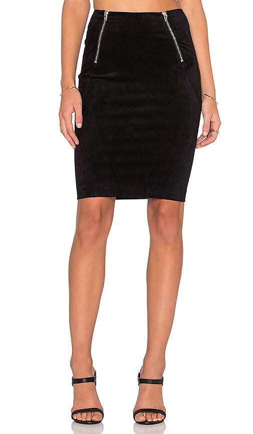 T by Alexander Wang Scuba Mini Skirt in Black