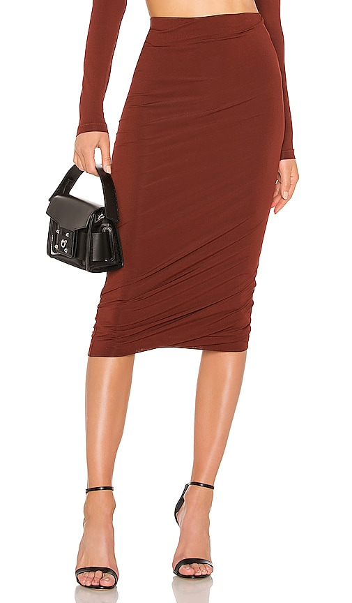Crepe Jersey Twisted Skirt