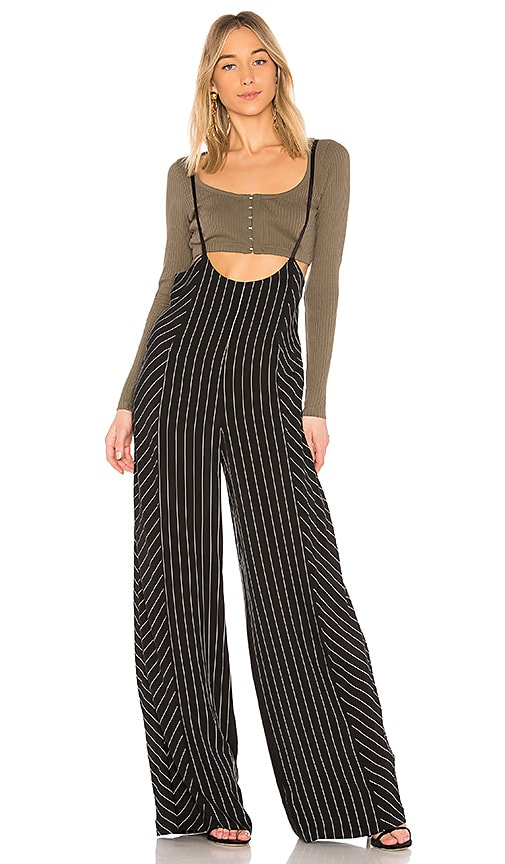T by Alexander Wang Pinstripe Pants in Black