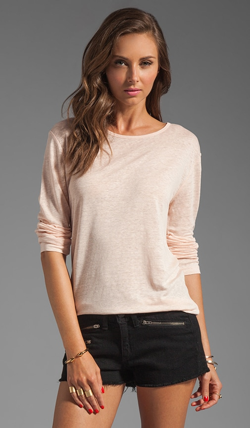 Linen Silk Long Sleeve Tee