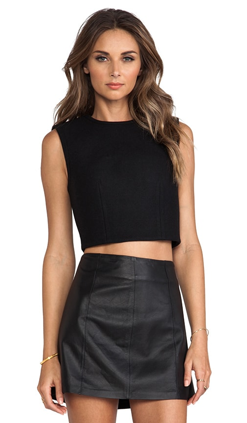 Bonded Wool Neoprene Cropped Shell