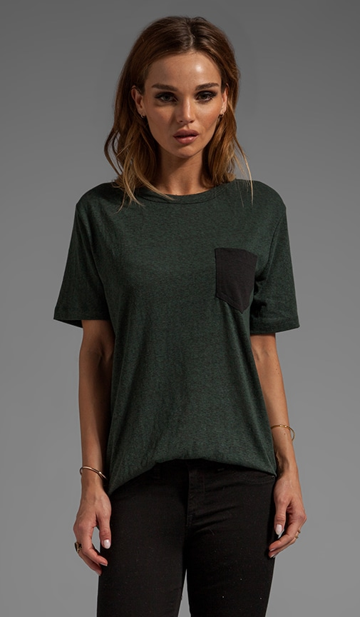 Textured Jersey Tee With Contrast Pocket