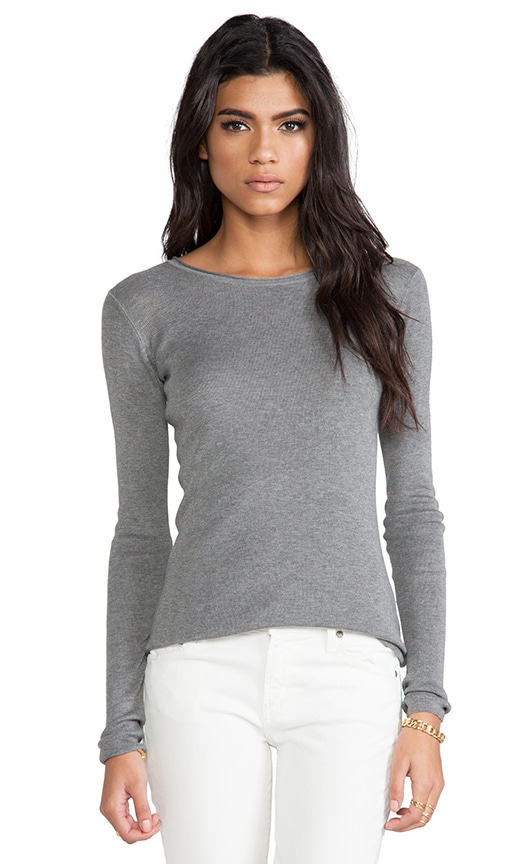 Fitted Knit Long Sleeve Pullover