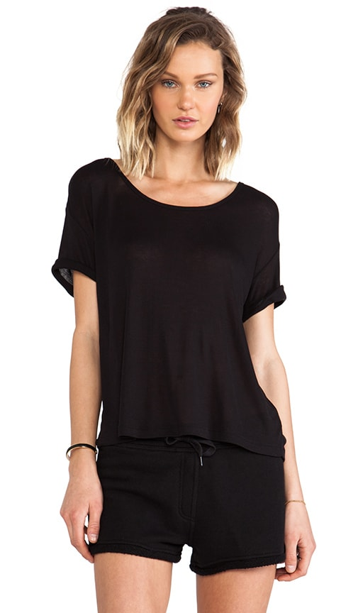 Soft Melange Jersey Scoop Neck Tee