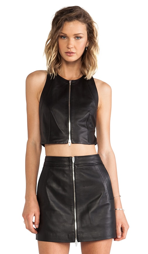 Lamb Leather Pinafore Crossback Tank