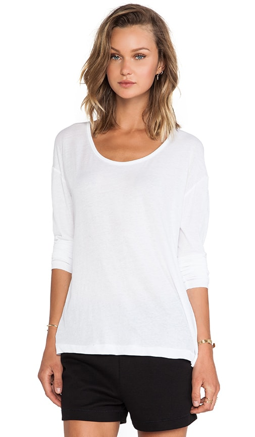 Lightweight Low Neck Long Sleeve Tee