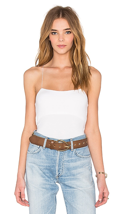 T by Alexander Wang Strappy Cami in White