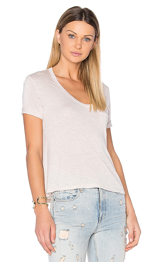 T by Alexander Wang Crop Pocket Tee in Pink