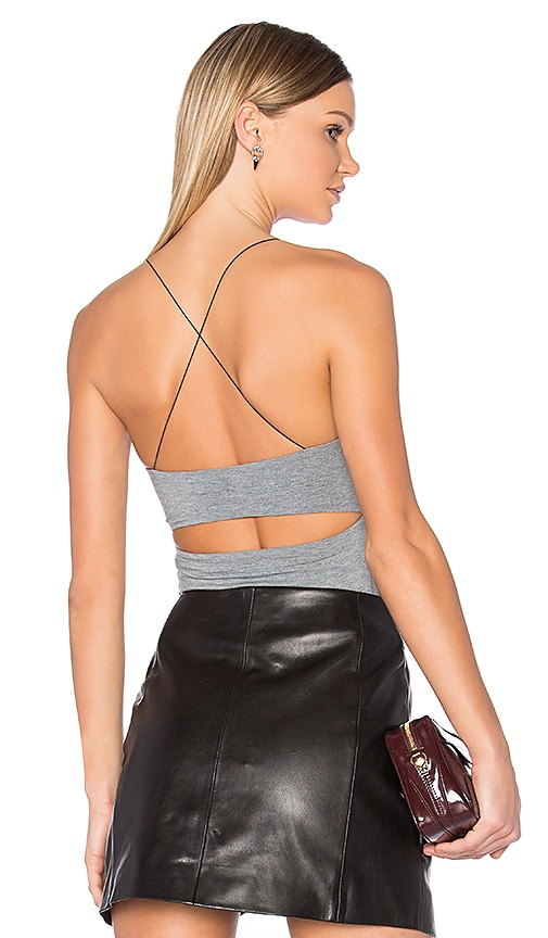 T by Alexander Wang Strappy Cami in Gray
