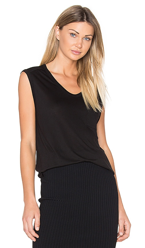 T by Alexander Wang Muscle Tee in Black