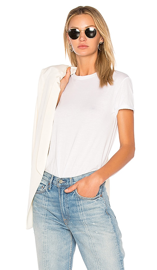T by Alexander Wang Superfine Jersey Crewneck Tee in White