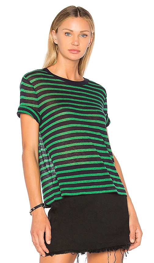 T by Alexander Wang Crew Neck Tee in Green