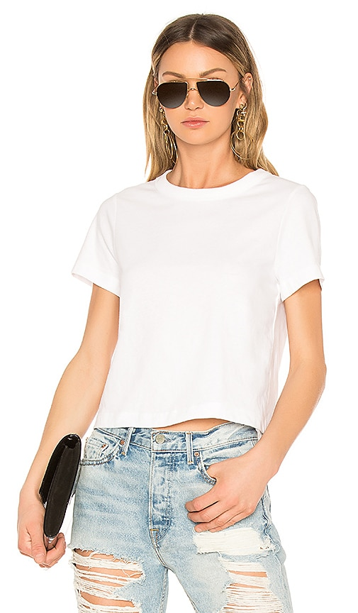 T by Alexander Wang Crop Tee in White