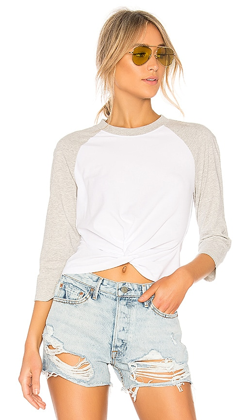 T by Alexander Wang High Twist Front Top in White